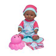 25cm Bath Time Toddler Doll Brown Eyes