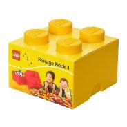 Storage Brick 4 Knob (25cm) - Yellow