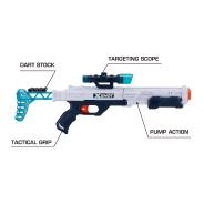 X-SHOT HAWK EYE FOAM DART GUN WITH 16 DARTS