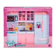 Pink Deluxe Fashion Doll Kitchen Set