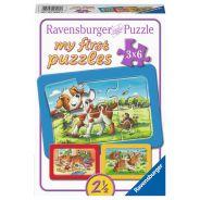 MY ANIMAL FRIENDS 3 X 6 PIECE PUZZLES