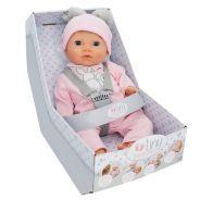 Baby Blond Doll In Bunny Pom Pom Outfit