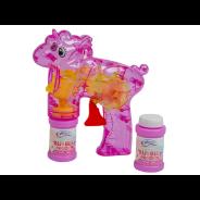Unicorn Light Up Bubble Gun