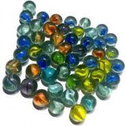 100 Marbles In Storage Bag