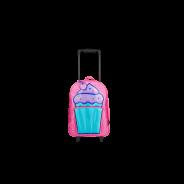 Cupcake Trolley Backpack Pink