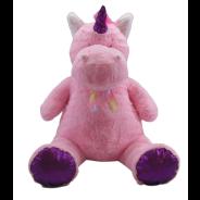 75cm Giant Sitting Unicorn Pink