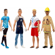 Ken Dolls in Career-Themed Outfits Assortment
