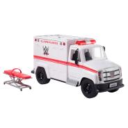 Wrekkin' Slambulance Vehicle with  Rolling Wheels & 8+ Wrekkin' Parts