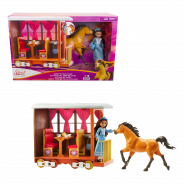 Untamed Lucky's Train Home Playset with Lucky Doll, Train And Play Pieces