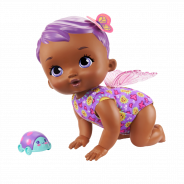 Baby Giggle and Crawl Baby Butterfly Doll (30cm), 20 Sounds and Fluttering Wings, Assortment