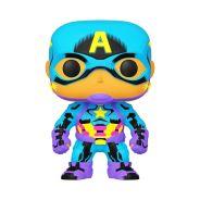 Funko Pop! Marvel:Black Light-Captain America (Special Edition)