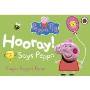 Peppa Pig Hooray! Says Peppa Finger Puppet Book
